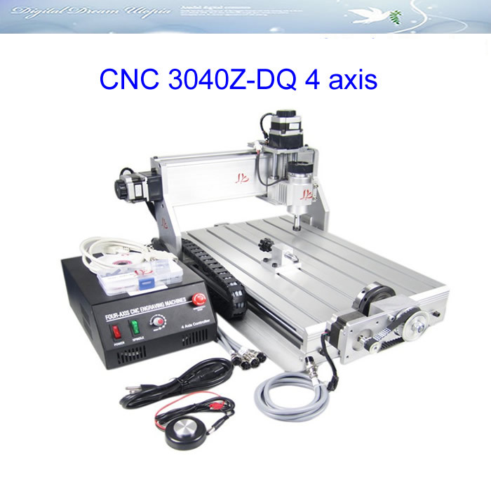 Hot sell CNC 3040 Z-DQ 4 axis engraving machine 3040Z-DQ wood carving router pcb cutting tool 2016 newest cnc router 3040z dq usb port cnc cutting machine cnc engrave machine