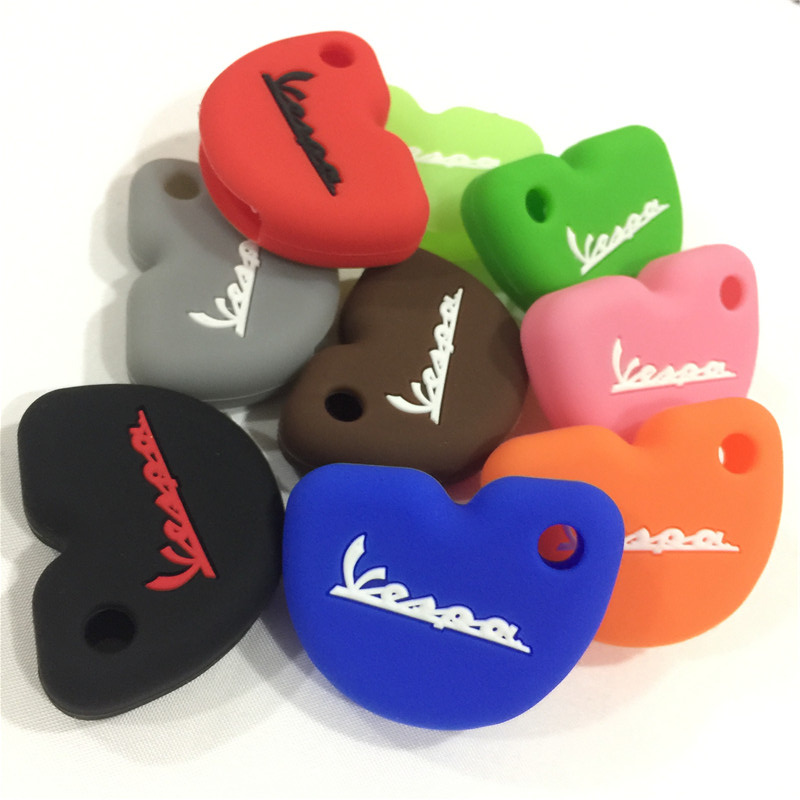 Silicone Rubber Key Cover Protector For Vespa Piaggio New Fly Gts Super 300 Gilera Nexus 500 Key