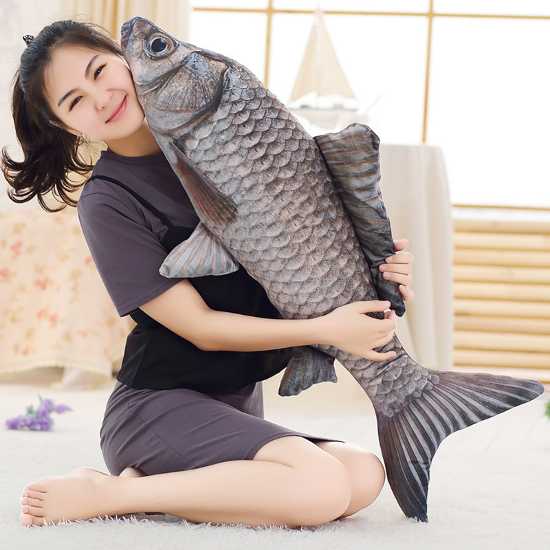 1pcs 70cm 100cm simulation Fish Carassius auratus fish Child Plush Toy Pillow Cartoon fish Doll Salted Fish Gift huge plush carp fish toy simulation carp lucky fish doll gift about 120cm