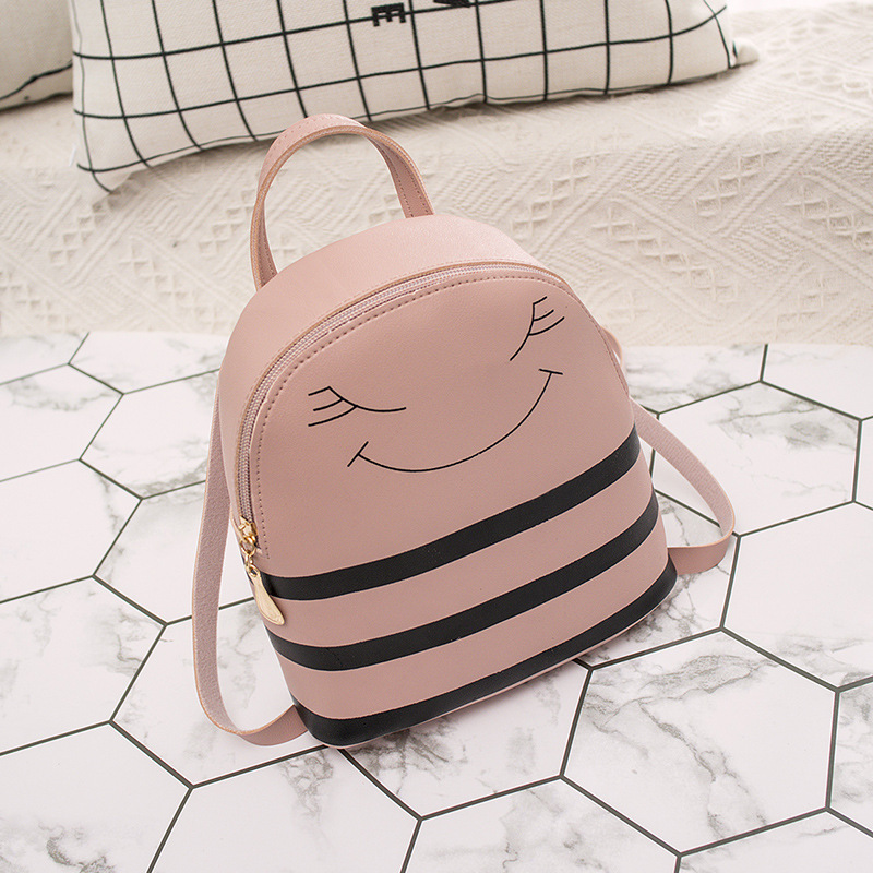 Smiling Face Small Backpack 2019 New Shoulder Mobile Phone Bags Cute Women Backpack Purse Mini Backpacks