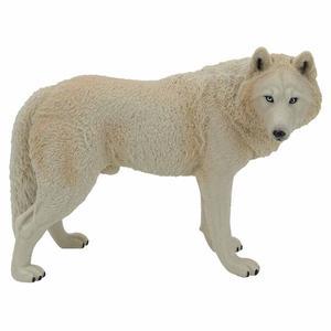 Image 4 - Büyük Kurt Heykeli Heykelcik Oyuncak PVC Yaban Hayatı Hayvan Modeli Aksiyon Figürleri Çocuklar için Playset Eğitim Koleksiyon Hediye