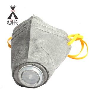 Image 2 - Хлопковая маска для губ @ HE Dog, респираторная маска для домашних животных PM2.5, Противопылевой газовый фильтр, противозапотевающая Дымчатая маска для собак