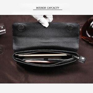 Image 5 - Luksusowy skórzany portfel kopertówka mężczyźni prawdziwy krokodyl cltuch torba dla mężczyzn prawdziwy portfel skóry aligatora z nadgarstkiem moda torba męska