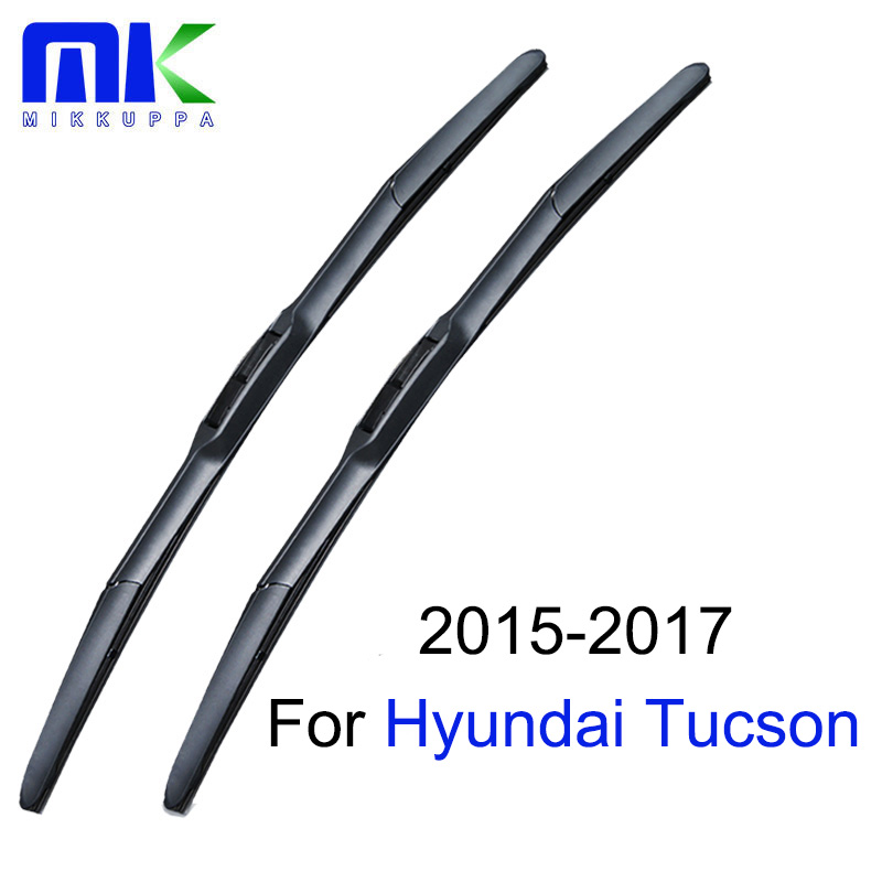 Mikkuppa Wiper Blades For Hyundai Tucson 2015 2016 2017 Pair 26+16 Windshield Windscreen Wiper Auto Car Accessories sumks wiper blades for honda insight 26