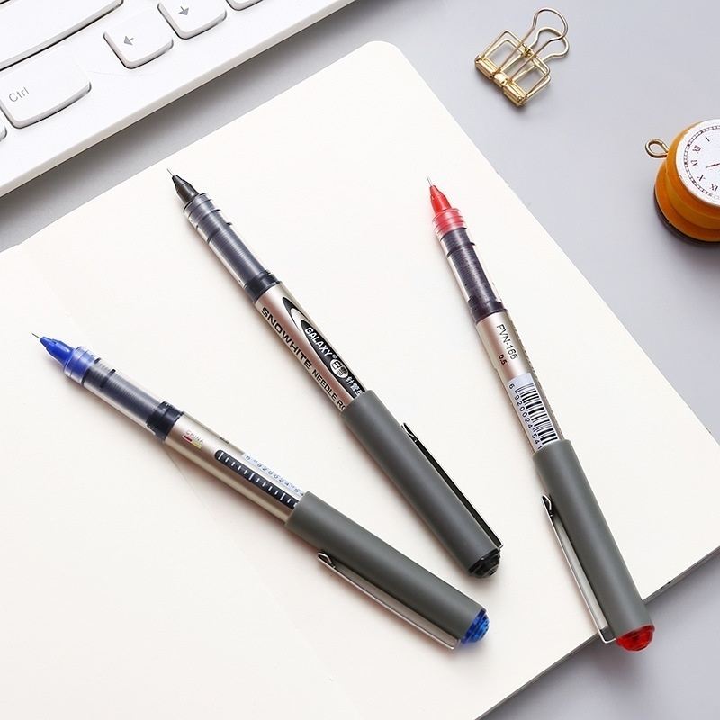 Big Capacity High Quality Gel Pen Liquid Ink Ball Pen Writing Black Blue Red for Office School Supplies Kids Staionery Pens 1