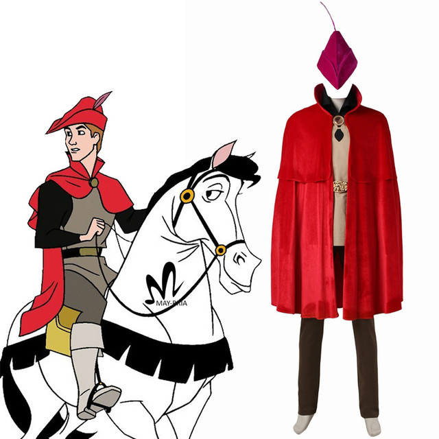 2017 newest Sleeping Beauty Prince Phillip cosplay costume Aurora Phillip Village costume suit Halloween costumes for adult
