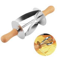Stainless Steel Bread Wheel Hob Croissant Tool Knife Cutlery Wooden Handle Baking Kitchen