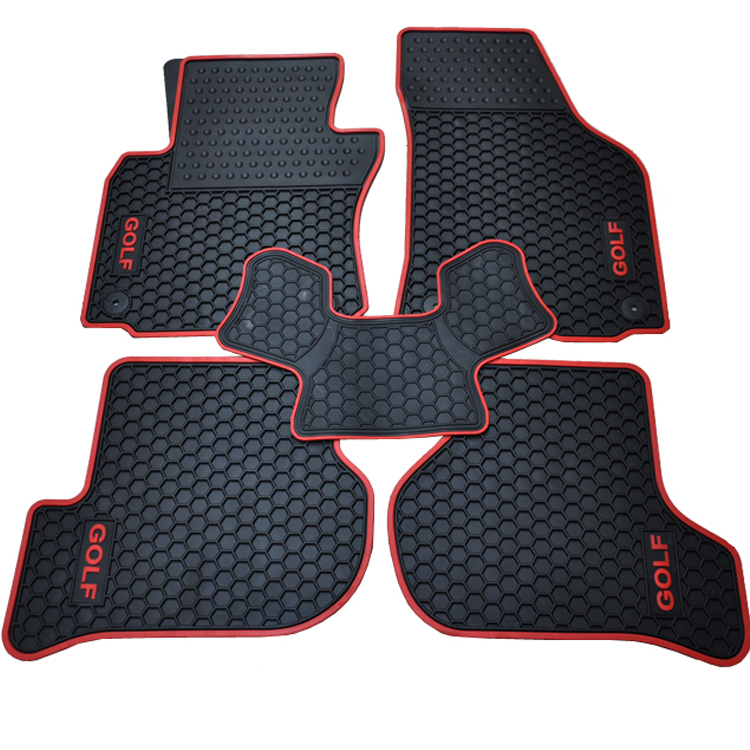 special waterproof green rubber latex non slip car floor mats for Volkswagen Golf 6 Golf 7 2014 5d car fioor mats one step making newest special for volksiwagen golf 7