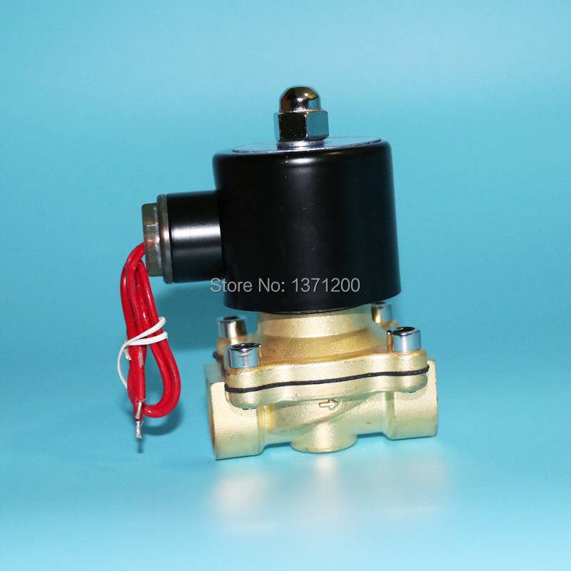"2W Normally open solenoid valve(NO),12V,24V,220V brass 1/2""~1"" solenoid valve"