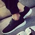 Nueva Moda Hombres Zapatos Casual Para la Primavera y el Verano de Aire Luz Transpirable Resistente al desgaste Negro con cordones unisex zapatos l152 65