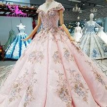 AIJINGYU 最高ブライダルドレスドレス蝶 Frocks 杭州変更ビクトリア朝のガウン結婚式白ドレス