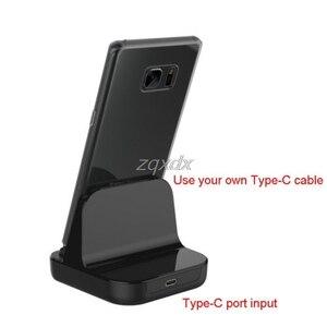 Image 2 - Tipo C Caricatore Del Bacino di Ricarica USB Desktop di C 3.1 Stazione Della Culla Per Il Telefono Jy19 19 Dropship