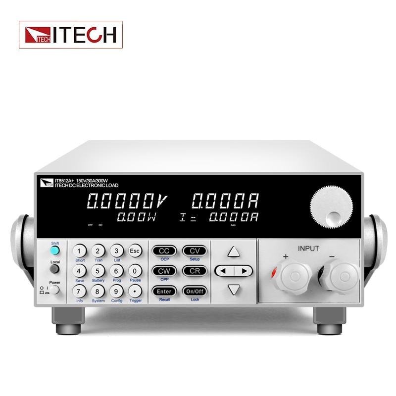 ITECH IT8512A+ DC Electronic Load  150V/30A/300W    -
