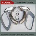 Cromo Puro 304 de Aço Inoxidável Ponta Silenciador Do Escape Para BMW X6 E71 x6 30D 35D 40D 2008 ~ 2014y