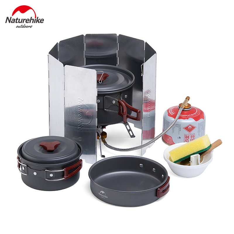 Naturehike Outdoor Ultralight Folding Windshield Windscreen Camping Stove Cooking Accessories Windproof NH15F008-B