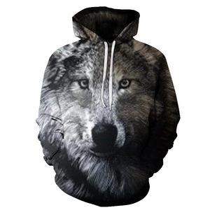 Image 5 - 2018 nowe bluzy z kapturem wolf męska bluza z kapturem jesienno zimowa bluza z kapturem hip hopowa bluzki w stylu Casual markowa 3D głowa wilka bluza z kapturem bluza Dropship