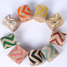 6pcs lace linen ribbon trim satin sewing bias for handicrafts ribbon DIY for wedding gift wrapping Sewing Decoration accessories