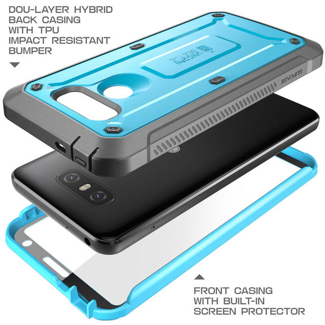 quality design d3913 e4ca9 US $17.99 |For LG G6 Case SUPCASE UB Pro Full Body Rugged Holster Clip  Protective Case with Built in Screen Protector For LG G6 Plus Cover-in  Fitted ...