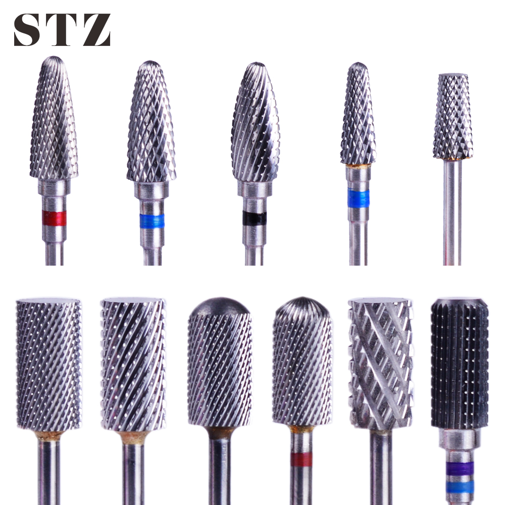 STZ 1pcs Tungsten Carbide Nail Drill Bits Milling Cutters For Nails Manicure Electric Machines Pedicure Accessories Tools #01-21