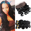 3 Bundles Peruvian Body Wave with Lace Frontal Closure Peruvian Hair Body Wave Peerless Virgin Hair Body Wave Bundle deals