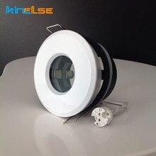 Белый точечный светильник, душевой встраиваемый светильник, комплект рама локального светильника для ванной комнаты IP65, Круглый фитинг GU10 MR16, базовый Встроенный светодиодный потолочный светильник