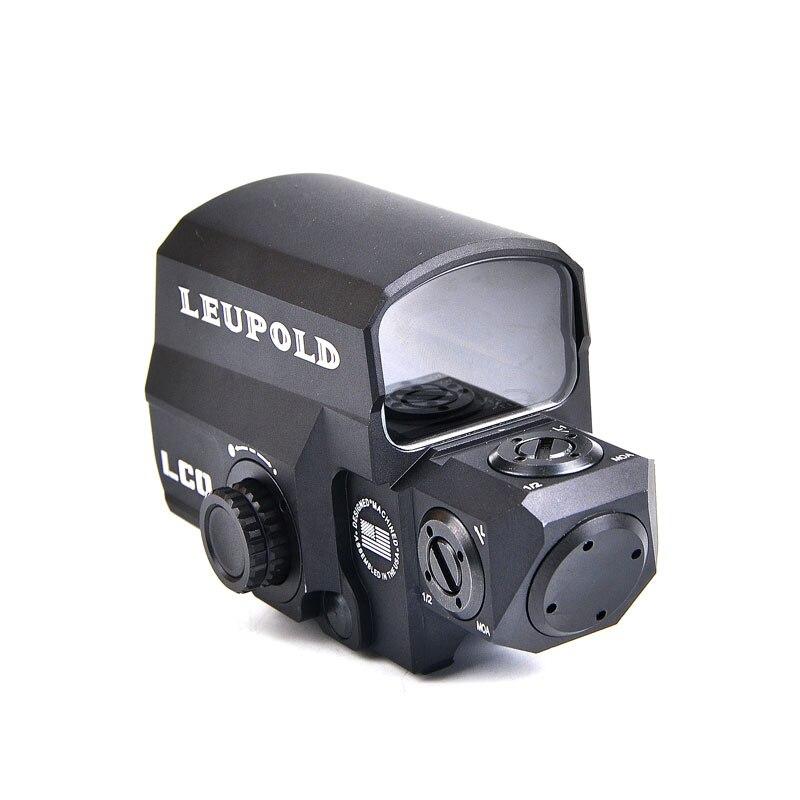 Dropshipping LEUPOLD LCO Tactical Red Dot Sight Portata Del Fucile di Caccia Scopes Mirino Reflex Con 20mm per Montaggio Su Guida Holographic Sight