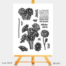 AZSG Sun flower Clear Stamps/Silicone Transparent Seals for DIY scrapbooking Card Making