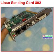 Linsn – carte d'envoi synchrone ts/sd801/802 rvb, 1024x640/1280x512 pixels, port dvi/rj45, affichage led synchronisé, TS801D