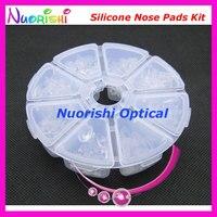 Hsi08 com 8 diferentes tipos macio óculos óculos acessórios óculos de Silicone almofadas nariz