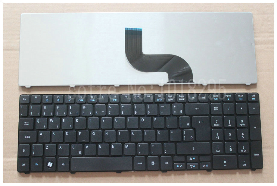 NEW Brazil laptop keyboard for <font><b>Acer</b></font> <font><b>Aspire</b></font> 7741 7741G 7741Z 7745G 8942 <font><b>8942G</b></font> 7735 7551 7551G BR keyboard image