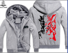 Hoodies & Sweatshirts animation clothing Naruto Hoodie plus velvet thickening clothes zipper Hooded men's sweatshirt