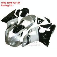 hulls kit For YAMAHA YZF R1 98 * 99 ( Silver & black ) Fairings 1998 1999 Abs Fairing kit LJ44