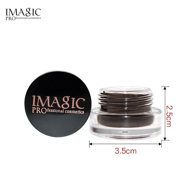 IMAGIC Professional Eyebrow Gel 6 Colors Eyebrow Enhancer Brow Enhancers Tint Makeup Eyebrow Brown With Brow Brush Tools 5