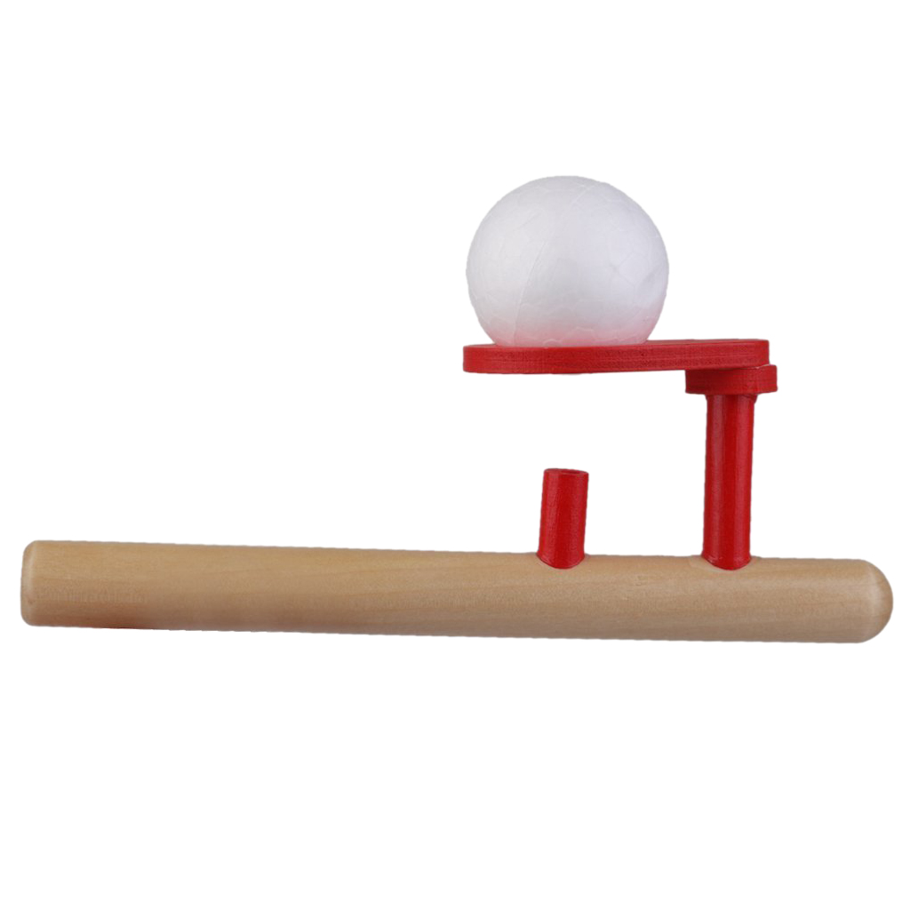 Classic Wooden Games Floating Ball Blow Tube & Balls Blows Toys ...