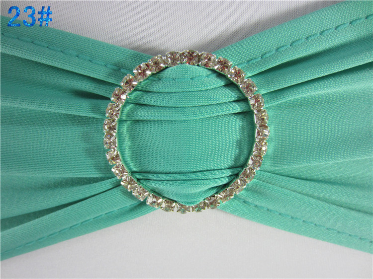 FREE SHIPPING WHITE spandex stretch chair band with DIAMONDS buckle for wedding decoration/elastic lycra sash with rhinestone