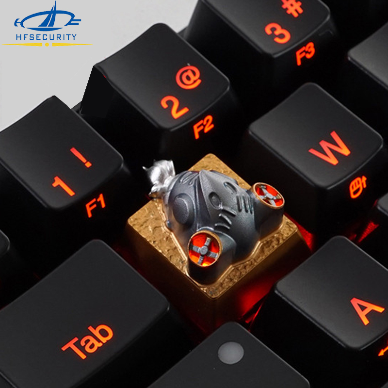 [HF Keycaps]For Overwatch Metal Keycap Aluminum for RGB Mechnical Keyboard R4 Translucent Keypress 3D Roadbuster Keyset electronics
