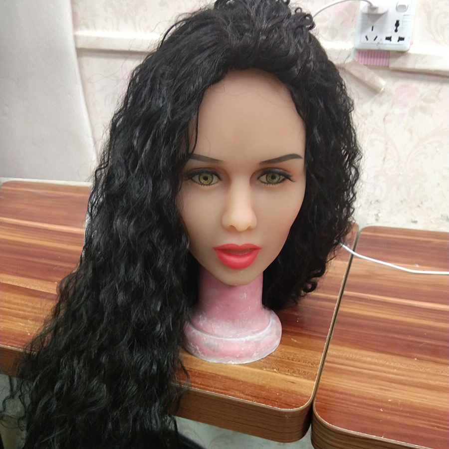 AILIJIA 84 Real Doll Heads with m16 Connector Silicone Doll Head Mold for Big Size Love Dolls 135cm 176cm Love Doll in Sex Dolls from Beauty Health