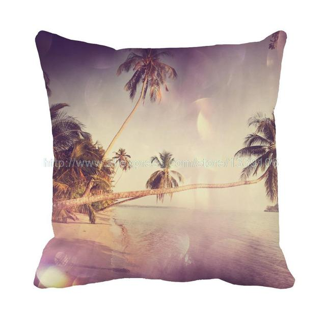 Hawaii Beach Style Scenery Print Custom Personalised Cushions For Sofa Chair Home Decor Throw Pillow Decorative