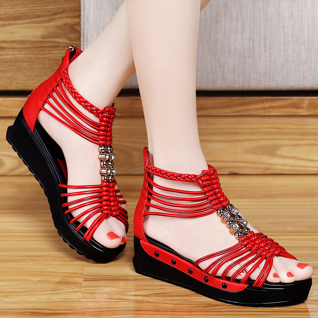 dba5494c992f0 Hot selling 2015 new summer fashion high platform sandals women casual ladies  shoes China Black and White 8222