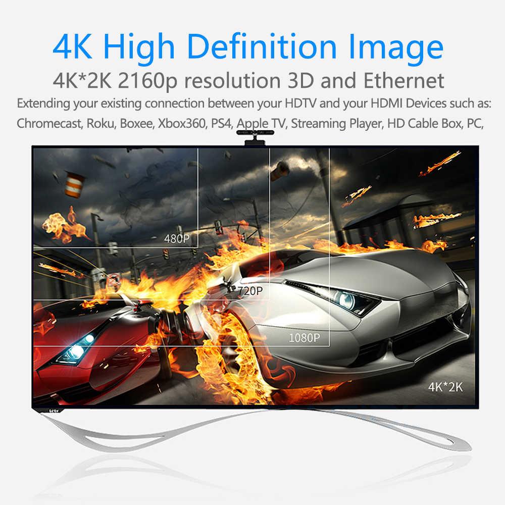 Удлинительный кабель, HDMI 4 K 3D HDMI штекер-f-удлинитель для компьютера/HDTV/ноутбука/проектора аудио и видео кабель 0,25 м 1 м