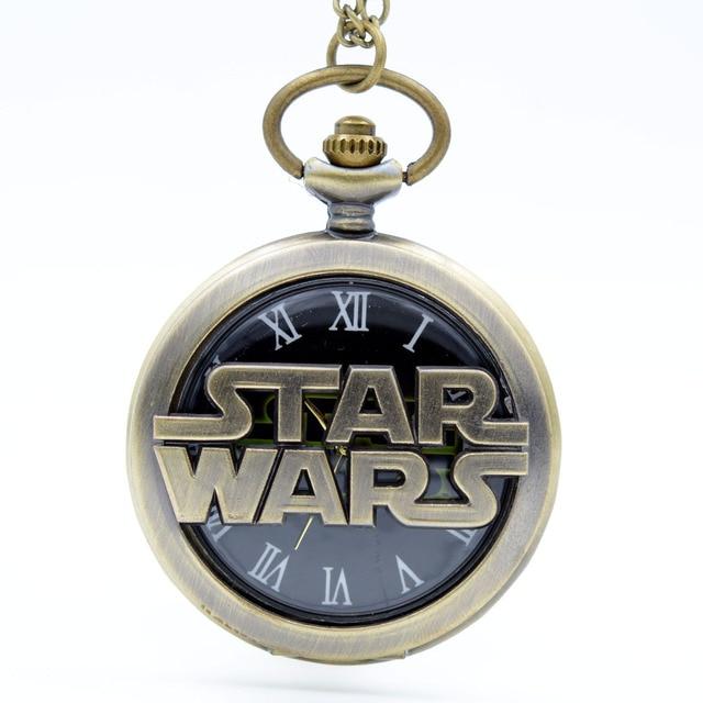 New Fashion Bronze/Black Star Wars Black SWTOR Quartz Pocket Watch Analog Pendan