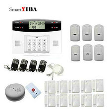 SmartYIBA Wireless Home and Business Security Alarm System Kit GSM Alarma With Smoke/Fire Sensor Multi-Language for optional