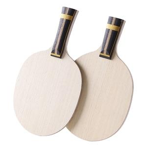 Image 3 - Zhangjike ZL carbon table tennis blade 5 layers wood 2 layers ZLC carbon offensive long handle horizontal grip ping pong racket