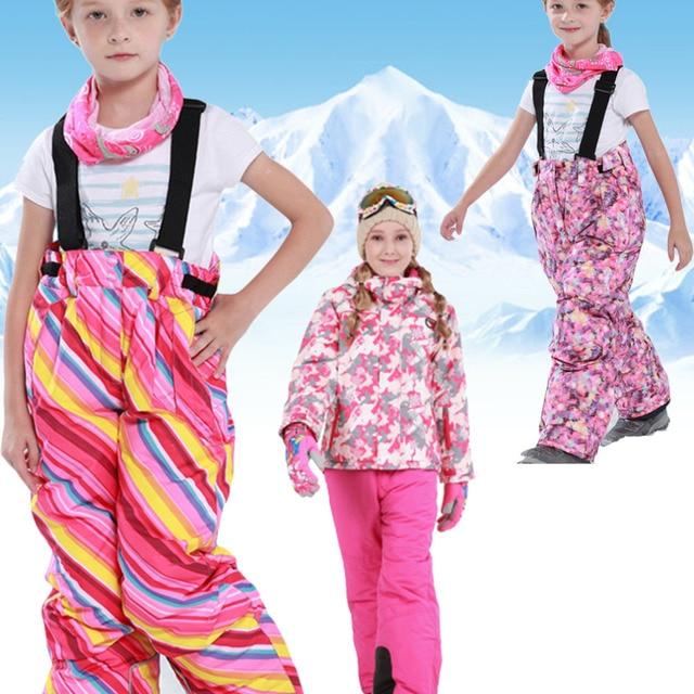 0b92a1aaf Winter Warm Kids Girl Ski Snow Pants Trousers Snowsuit Snowboard Pants new