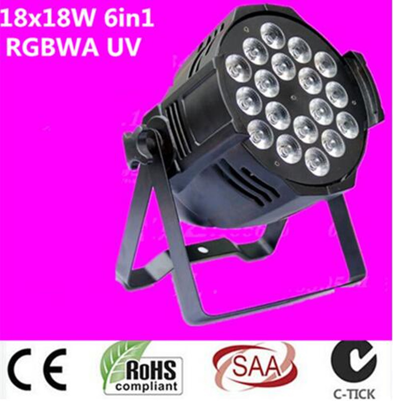 dj lighting 18x18w rgbwa uv 6in1 DMX led par light Aluminum alloy shell free shipping dj par cans rgbwa uv 6in1 18x18w led par light aluminum alloy shell par led disco dmx stage effect lights