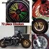 Motocross SPOKE SKINS Wheel RIM SPOKE COVERS Bicycle For KAWASAKI Ktm 250 Bmw SUZUKI XR650L Cbr1000r