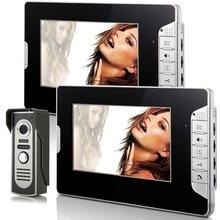 Video Doorbell 7″Inch Color TFT LCD Video Door Phone Doorbell Intercom Night Vision Home Security Kit 1 Camera 2 Monitor