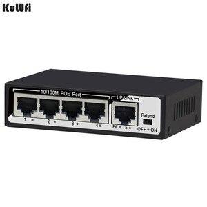 Image 5 - KuWfi 48V 10/100Mbps red enchufe interruptor y 5 puertos rápido cambio Full Duplex y medio dúplex para AP/cámara