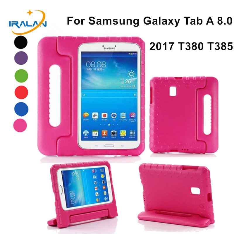 Kids Children Safe Rugged Proof EVA Foam Cover For Samsung Galaxy Tab A 8.0 2017 T380 T385 Handle Stand Case