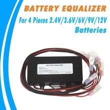 Аккумулятор эквалайзер для 4 шт. 2,4 В/3,6 В/6 в/9 В/12 В свинцово-кислотный/литий-железо-фосфат/никель-кадмиевый вторичный Ni/MH батареи балансир